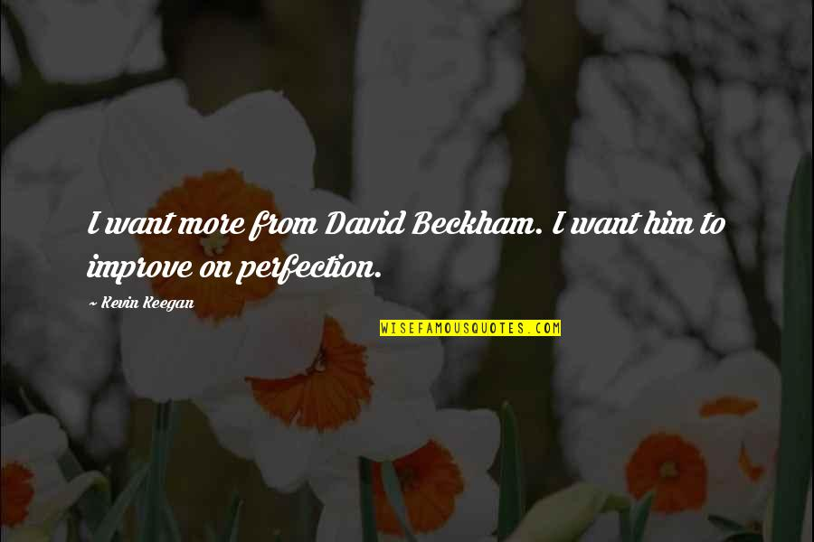 David Beckham Quotes By Kevin Keegan: I want more from David Beckham. I want