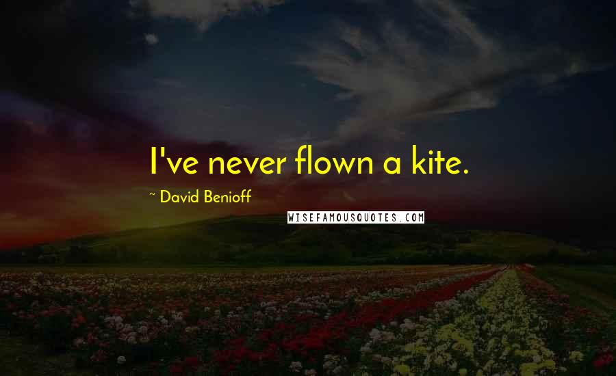 David Benioff quotes: I've never flown a kite.