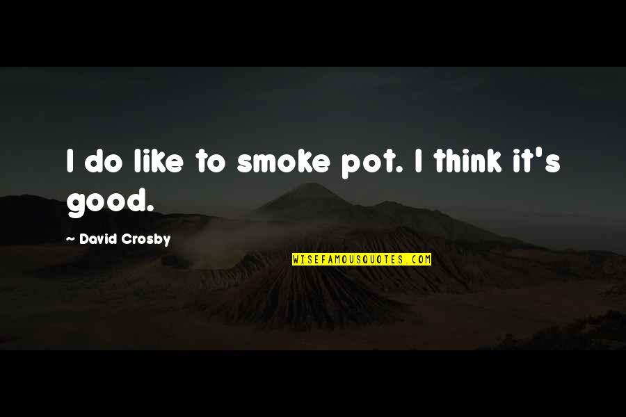 David Crosby Quotes By David Crosby: I do like to smoke pot. I think
