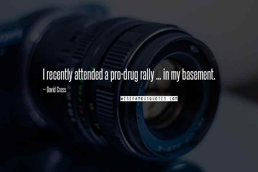 David Cross quotes: I recently attended a pro-drug rally ... in my basement.