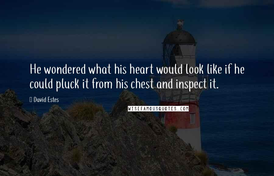 David Estes quotes: He wondered what his heart would look like if he could pluck it from his chest and inspect it.