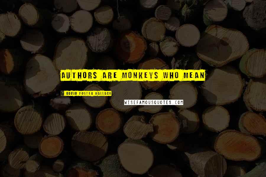 David Foster Wallace quotes: Authors are monkeys who mean