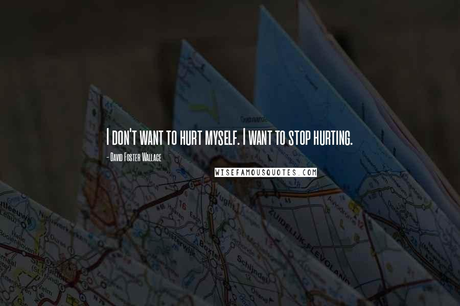 David Foster Wallace quotes: I don't want to hurt myself. I want to stop hurting.