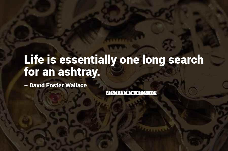 David Foster Wallace quotes: Life is essentially one long search for an ashtray.