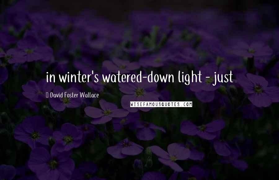 David Foster Wallace quotes: in winter's watered-down light - just
