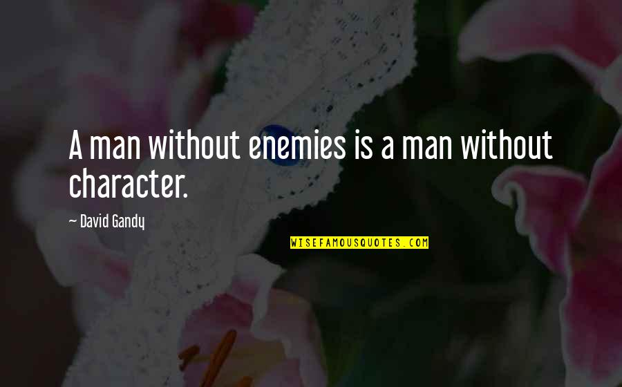 David Gandy Quotes By David Gandy: A man without enemies is a man without