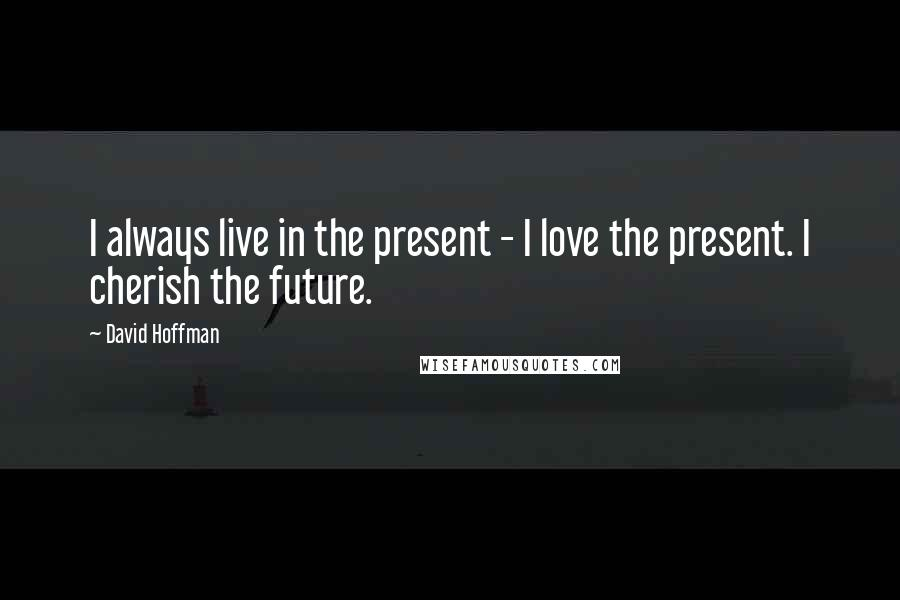 David Hoffman quotes: I always live in the present - I love the present. I cherish the future.