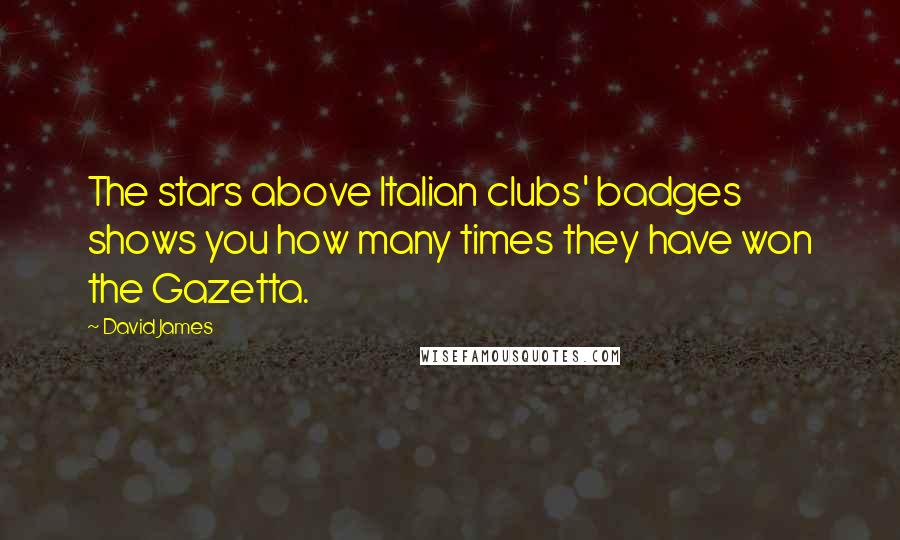 David James quotes: The stars above Italian clubs' badges shows you how many times they have won the Gazetta.