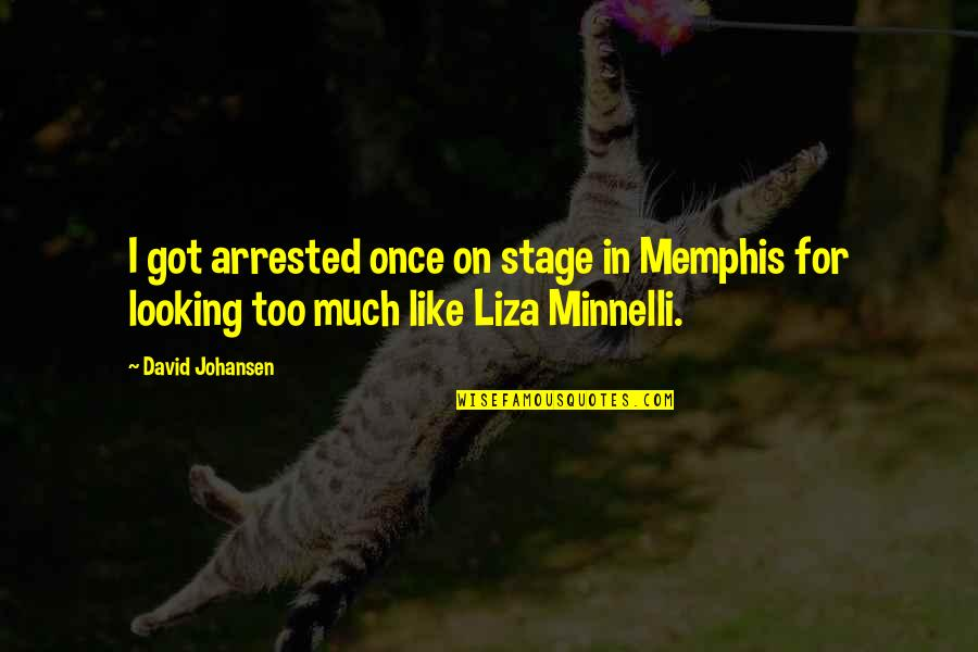 David Johansen Quotes By David Johansen: I got arrested once on stage in Memphis