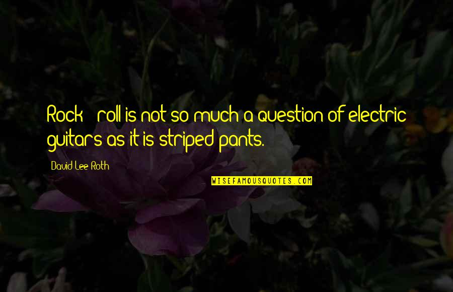 David Lee Roth Quotes By David Lee Roth: Rock & roll is not so much a