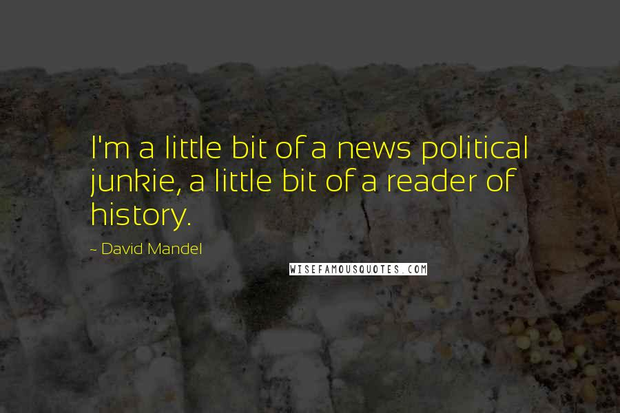 David Mandel quotes: I'm a little bit of a news political junkie, a little bit of a reader of history.