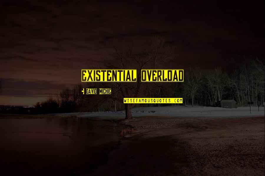 David Michie Quotes By David Michie: existential overload