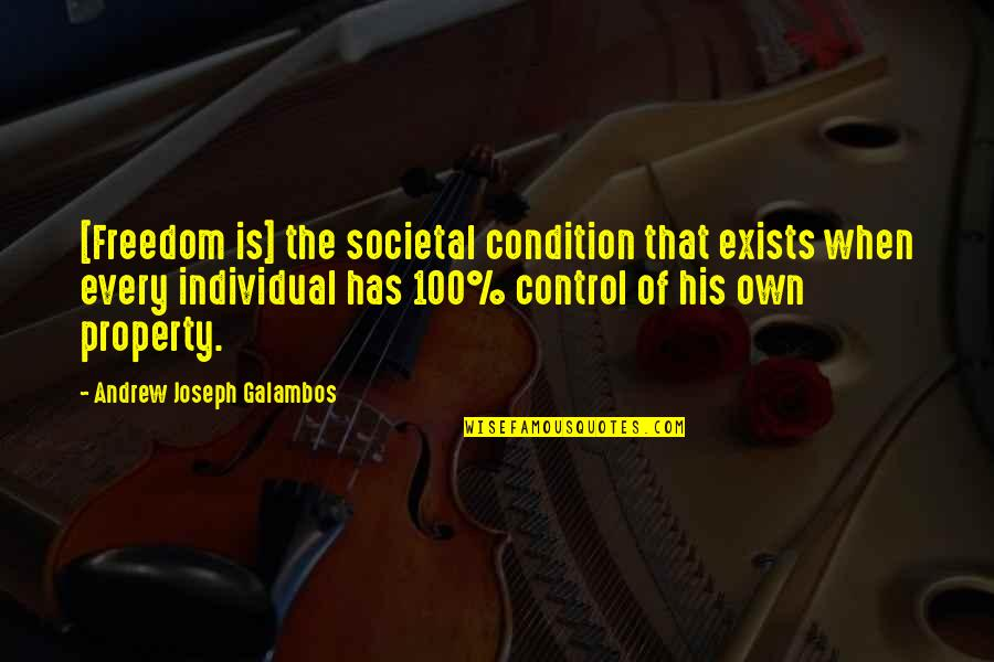 David Miliband Quotes By Andrew Joseph Galambos: [Freedom is] the societal condition that exists when