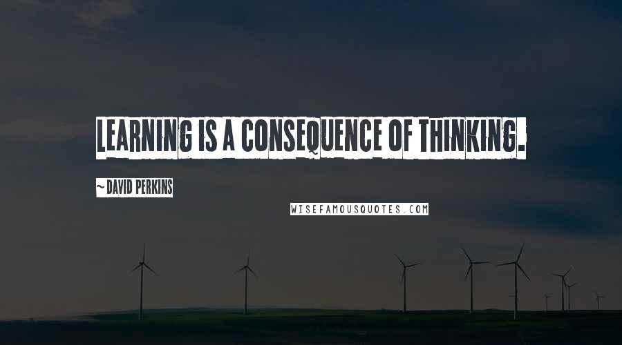 David Perkins quotes: Learning is a consequence of thinking.