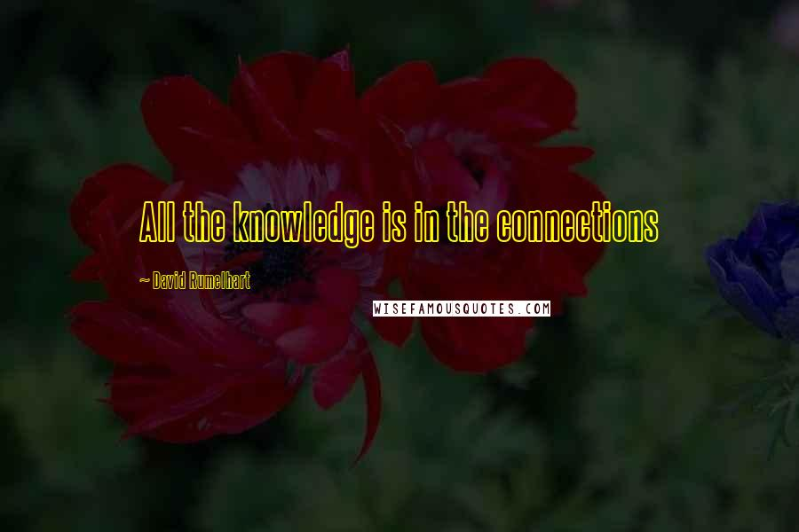 David Rumelhart quotes: All the knowledge is in the connections