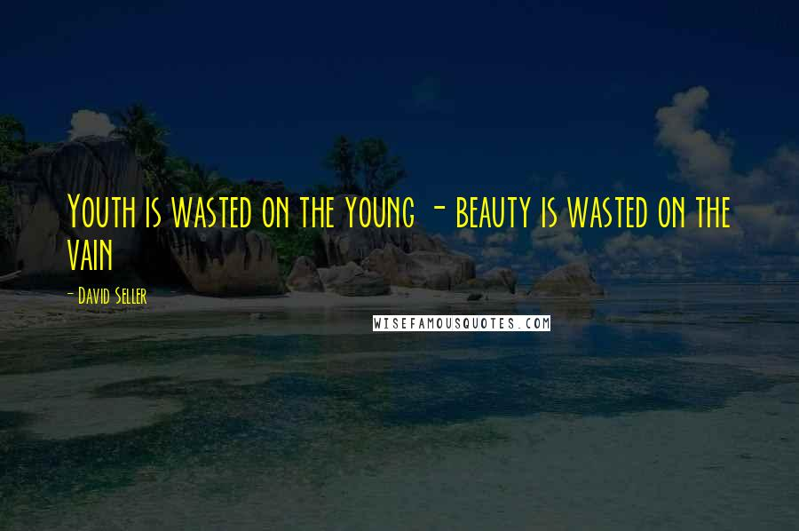 David Seller quotes: Youth is wasted on the young - beauty is wasted on the vain