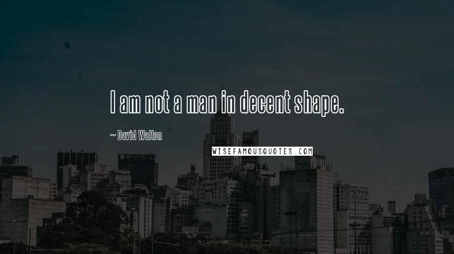 David Walton quotes: I am not a man in decent shape.