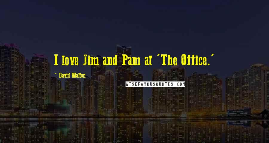 David Walton quotes: I love Jim and Pam at 'The Office.'