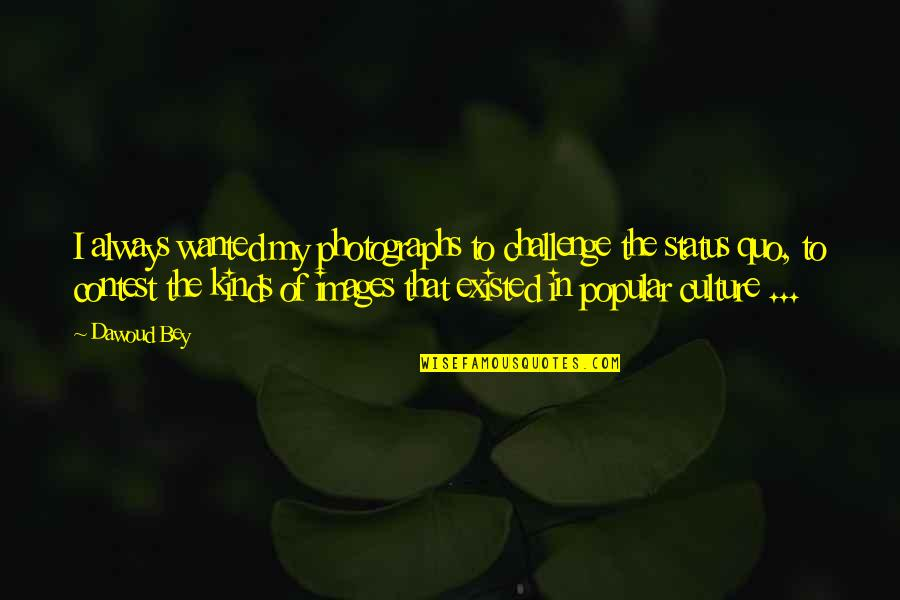 Dawoud Bey Quotes By Dawoud Bey: I always wanted my photographs to challenge the