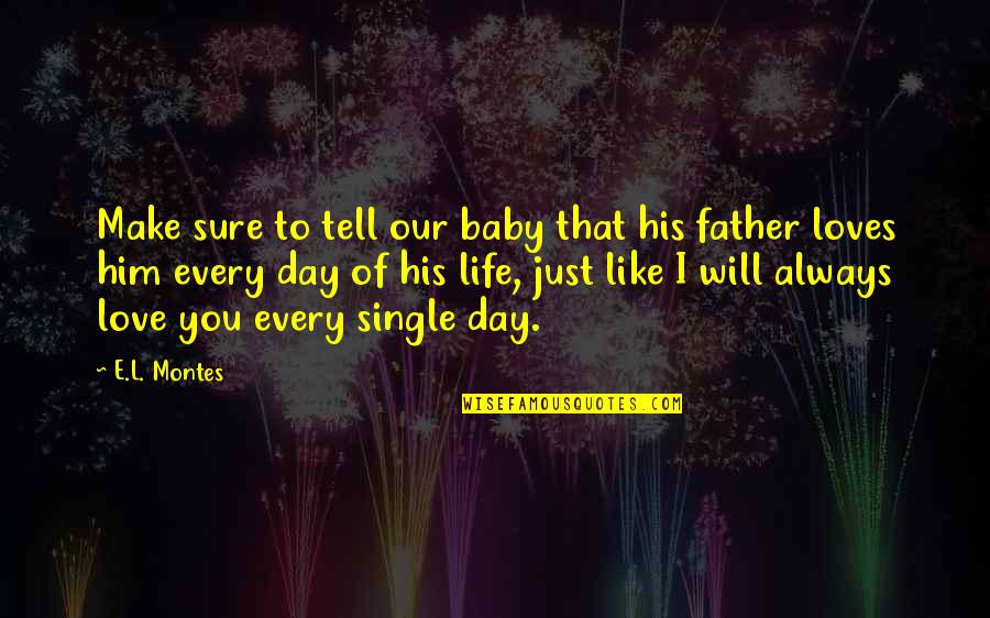 Day Day Baby D Quotes By E.L. Montes: Make sure to tell our baby that his