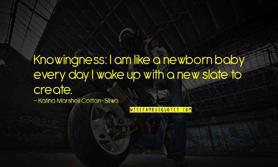 Day Day Baby D Quotes By Katina Marshell Cotton-Sliwa: Knowingness: I am like a newborn baby every