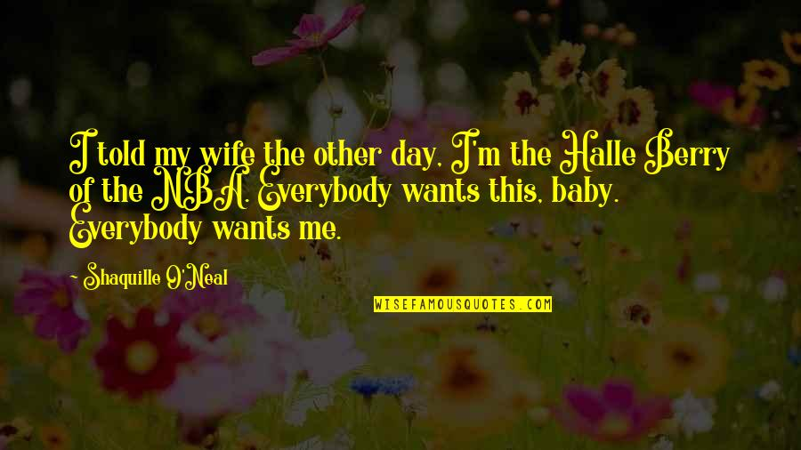Day Day Baby D Quotes By Shaquille O'Neal: I told my wife the other day, I'm