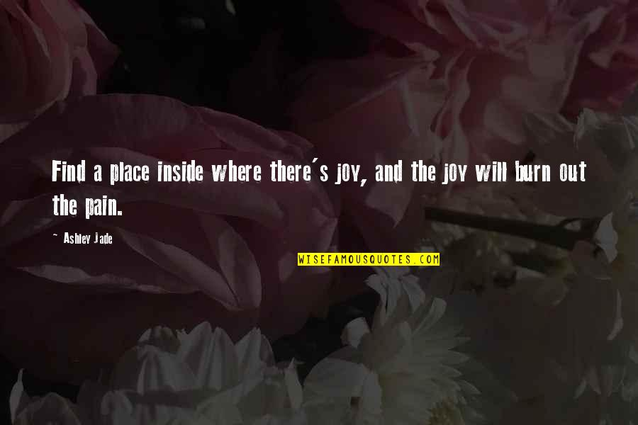 Days Of The Future Past Movie Quotes By Ashley Jade: Find a place inside where there's joy, and