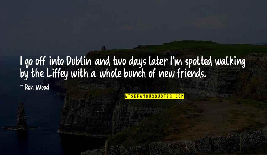 Days With Friends Quotes By Ron Wood: I go off into Dublin and two days