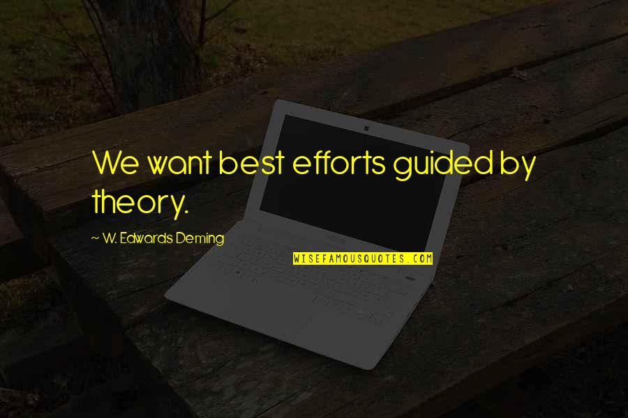 Dc Comics Characters Quotes By W. Edwards Deming: We want best efforts guided by theory.