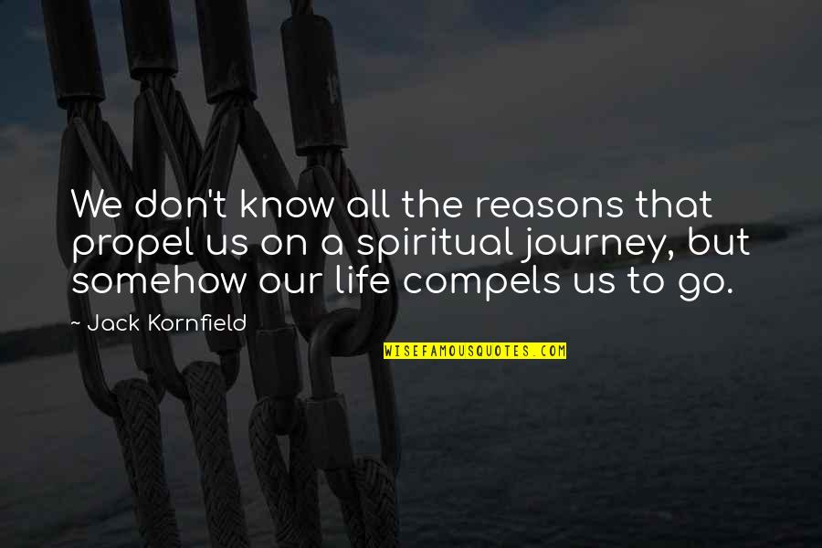 Deadly Premonition Coffee Quotes By Jack Kornfield: We don't know all the reasons that propel