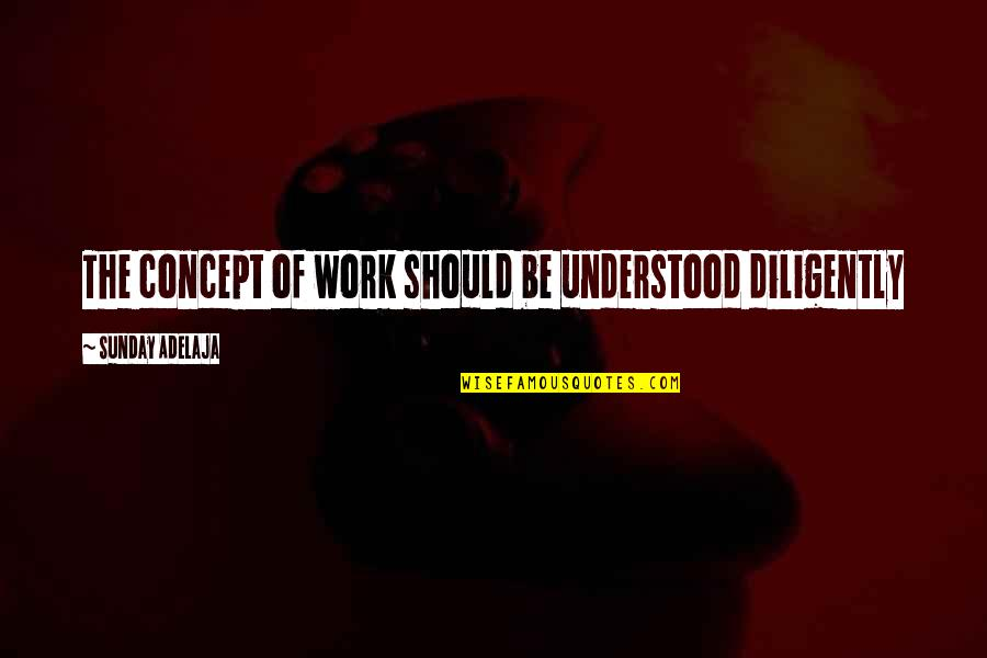 Deadly Premonition Coffee Quotes By Sunday Adelaja: The concept of work should be understood diligently