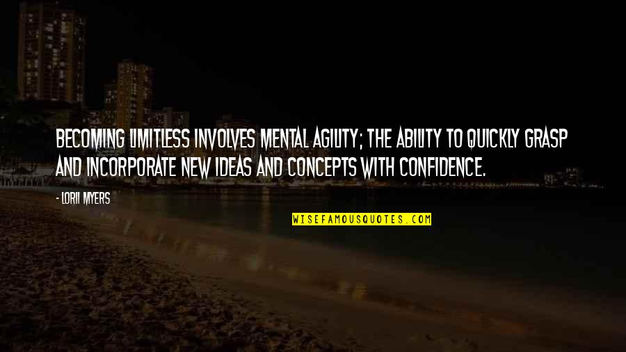 Dealine Quotes By Lorii Myers: Becoming limitless involves mental agility; the ability to