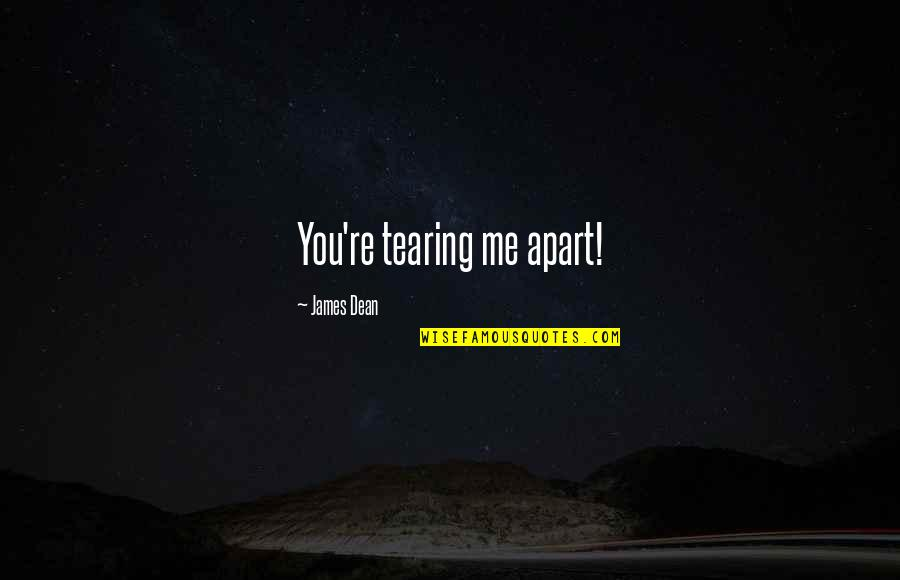 Dean O'gorman Quotes By James Dean: You're tearing me apart!