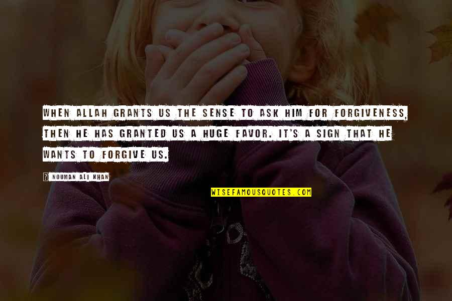 Dean Winchester Mystery Spot Quotes By Nouman Ali Khan: When Allah grants us the sense to ask