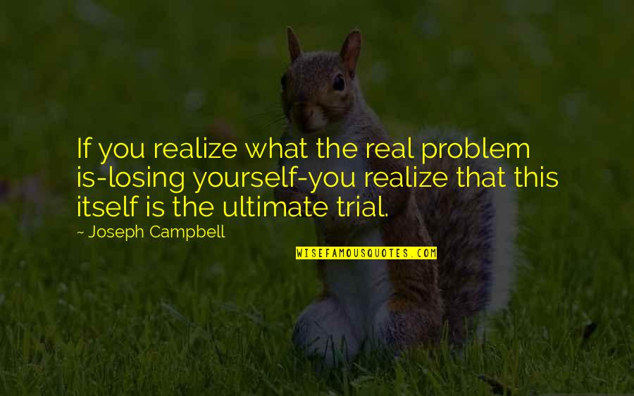 Dear Prince Charming Quotes By Joseph Campbell: If you realize what the real problem is-losing