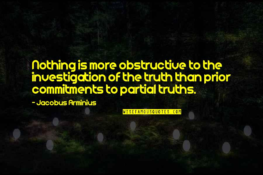Dearest Friend Birthday Quotes By Jacobus Arminius: Nothing is more obstructive to the investigation of
