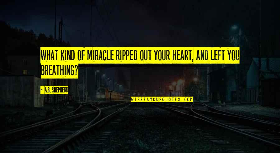 Death And Memories Quotes By A.B. Shepherd: What kind of miracle ripped out your heart,