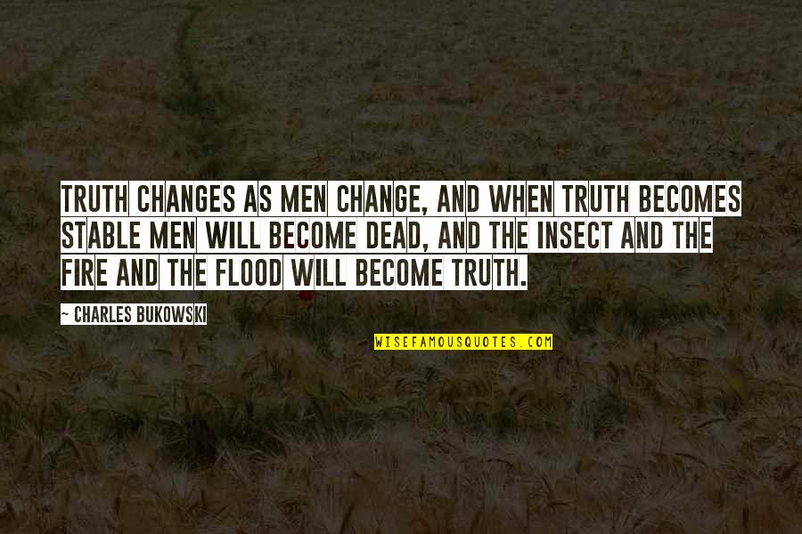 Death And Quotes By Charles Bukowski: Truth changes as men change, and when truth