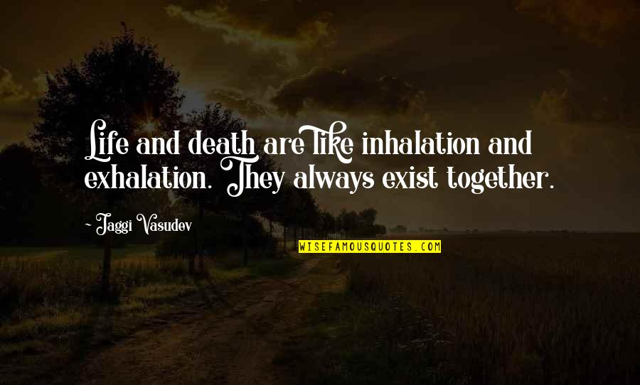 Death And Quotes By Jaggi Vasudev: Life and death are like inhalation and exhalation.