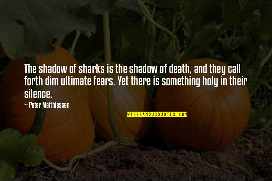 Death And Quotes By Peter Matthiessen: The shadow of sharks is the shadow of