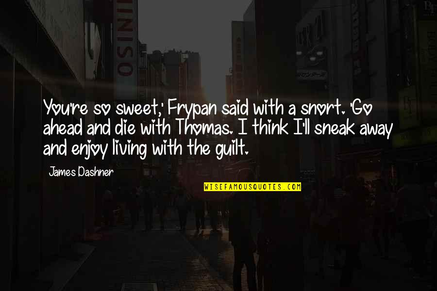 Death Buddhist Quotes By James Dashner: You're so sweet,' Frypan said with a snort.
