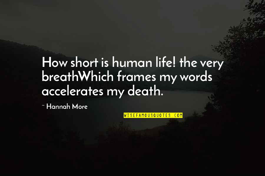 Death Life Quotes By Hannah More: How short is human life! the very breathWhich