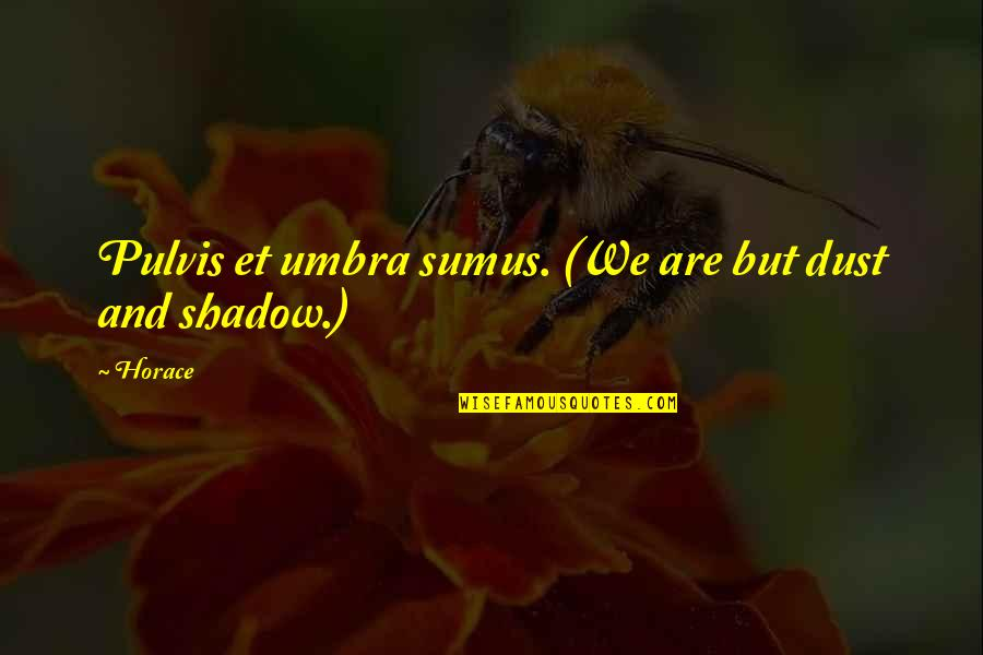 Death Life Quotes By Horace: Pulvis et umbra sumus. (We are but dust