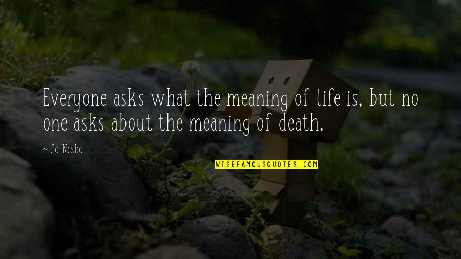 Death Life Quotes By Jo Nesbo: Everyone asks what the meaning of life is,