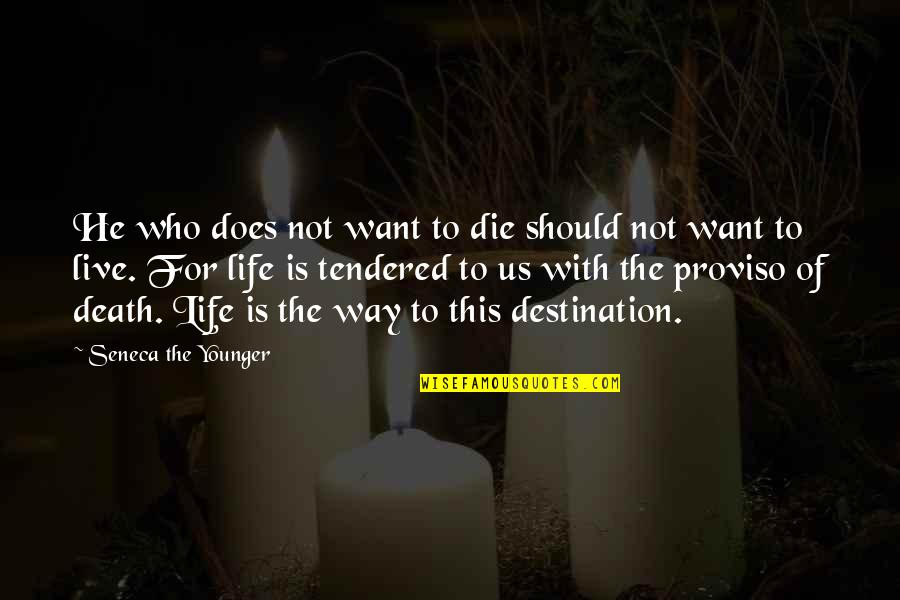 Death Life Quotes By Seneca The Younger: He who does not want to die should