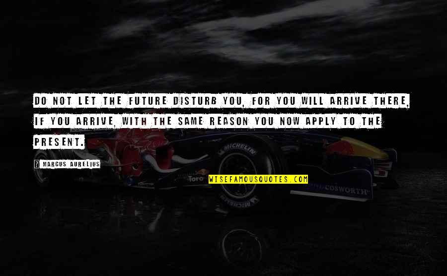 Debenham Quotes By Marcus Aurelius: Do not let the future disturb you, for