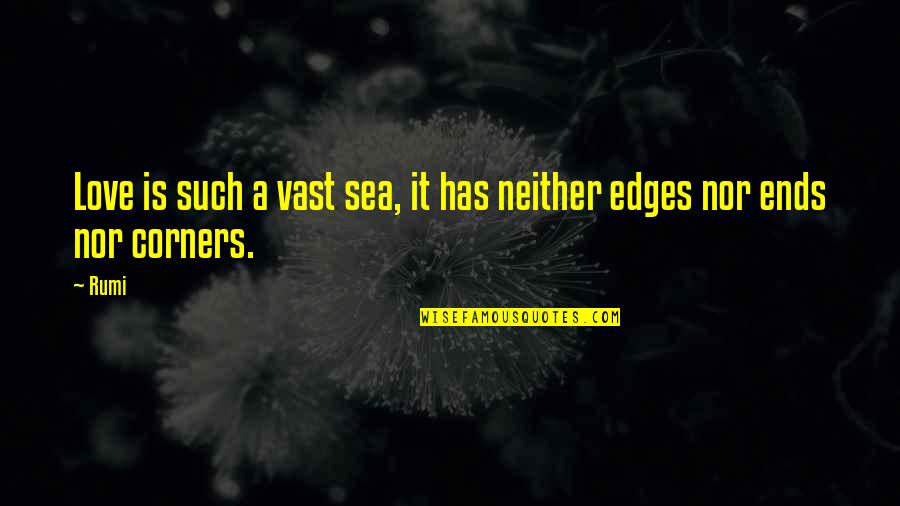 Debenham Quotes By Rumi: Love is such a vast sea, it has