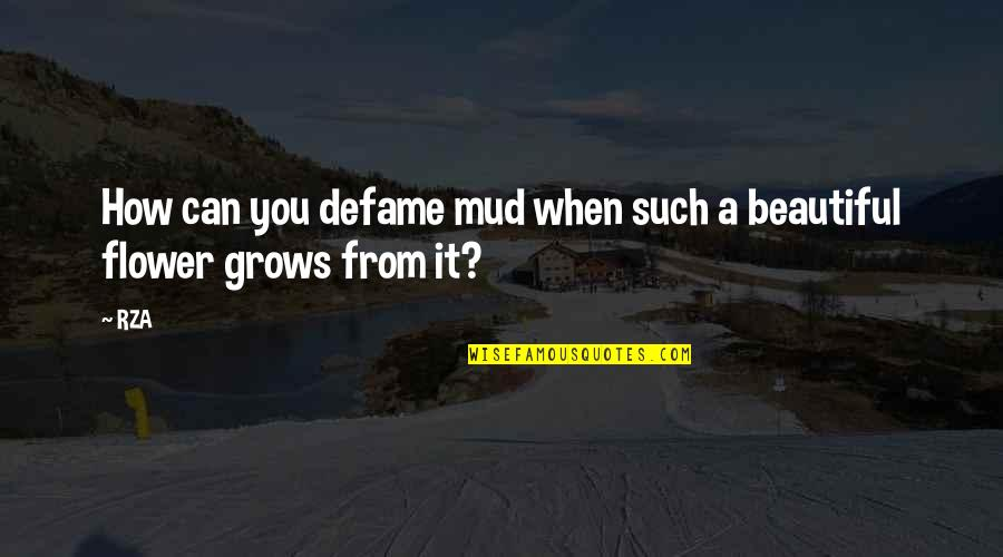 Defame Quotes By RZA: How can you defame mud when such a
