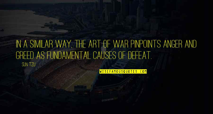 Defeat In War Quotes By Sun Tzu: In a similar way, The Art of War