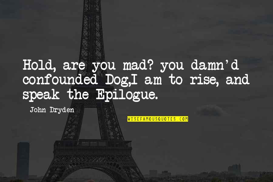 Defend Freedom Of Speech Quotes By John Dryden: Hold, are you mad? you damn'd confounded Dog,I